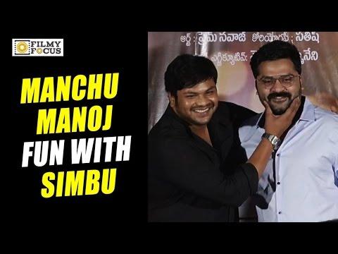 Video Manchu Manoj Fun with Tamil Star Simbu at Sarasudu Movie Audio Launch - Filmyfocus.com download in MP3, 3GP, MP4, WEBM, AVI, FLV January 2017
