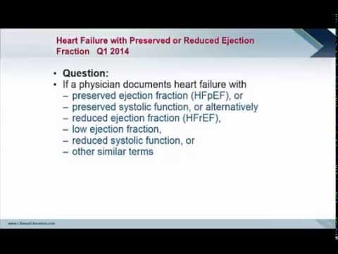 Coding Clinic Advice: Heart Failure with Preserved or Reduced Ejection Fraction (Q1 2014)