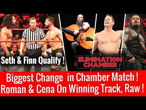 Shocking Change ! Seth & Finn Qualify ! 7 Man Elimination Chamber WWE Raw 2/12/18 Highlights 12 Feb