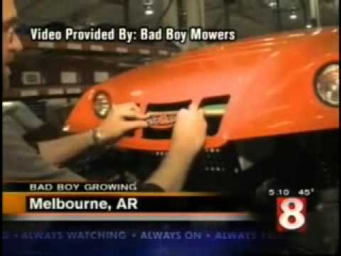 Bad Boy Mowers on Region 8 News