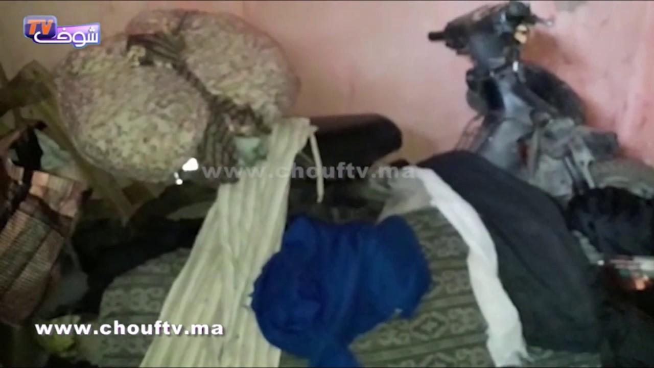 فيديو من قلب منزل المجرم اللي قطع لمتشرد راسو فالمحمدية..شوفو فين كان عايش   خارج البلاطو