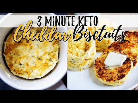3 Minute Keto Coconut Flour Bread | Cheddar Biscuits!