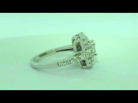 1.15 CT PRINCESS CUT HALO DIAMOND ENGAGEMENT RING NEW!
