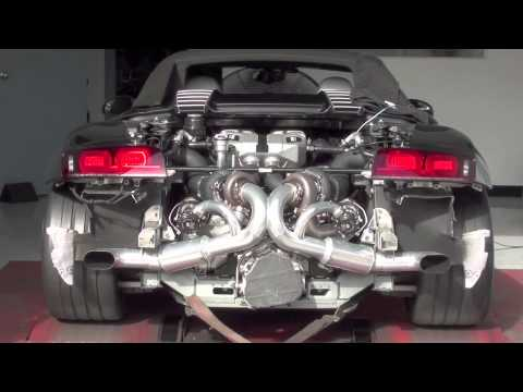 Heffnertwinturbo - Dyno footage of a Heffner Twin Turbo 2012 Audi R8 Spider making 850 horsepower.