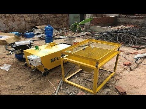 Máy phun vữa - Máy bơm vữa xi măng - SIÊU HÓT cho công trình xây dựng