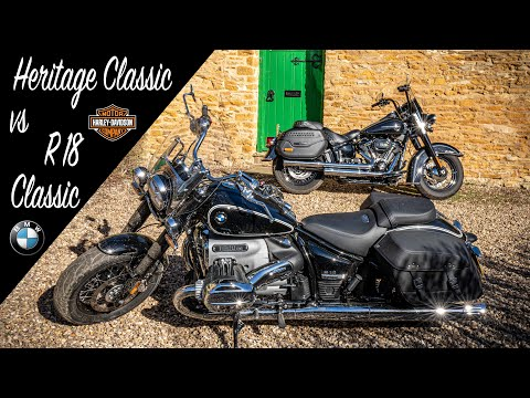 Harley-Davidson Heritage Classic vs BMW R 18 Classic. Which cruiser is best? You may be surprised!