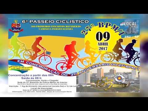 Polícia Militar realiza 6º passeio ciclístico em Jaú