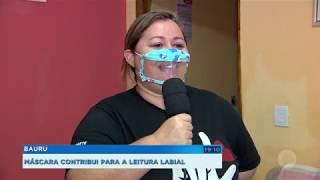 Máscara personalizada permite que surdos façam leitura labial