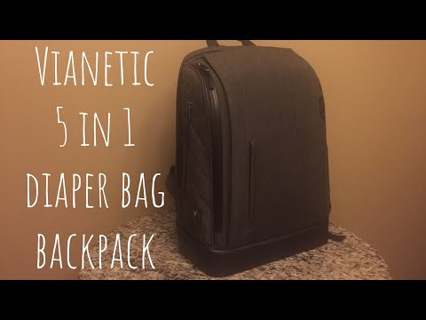The Vianetic Diaper Bag Packed For 2 Kids