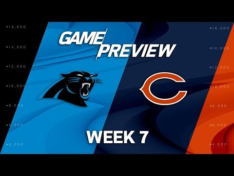 Video: Carolina Panthers vs. Chicago Bears | Week 7 Game Preview | NFL Playbook