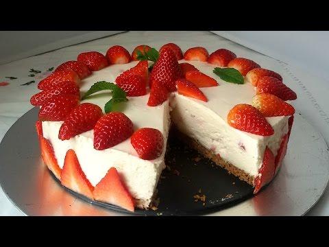 Tarta de fresas con nata (sin horno)