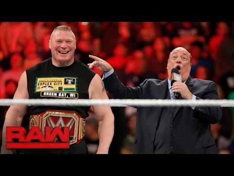 "Brock Lesnar sets his sights on the ""pretender"" WWE Champion Jinder Mahal: Raw, Oct. 23, 2017"