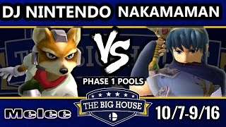 TBH6 SSBM – Nakamaman (Marth) Vs. DJ Nintendo (Fox) – Smash Melee Pools