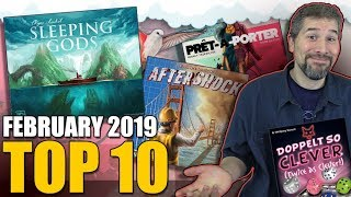 Top 10 hottest board games: February 2019