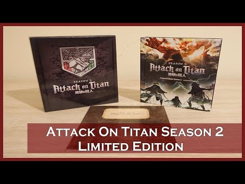 Anime Unboxing | Attack On Titan Season 2 Limited Edition (Blu-ray/DVD Combo) 2018