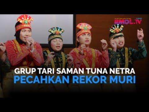 Grup Tari Saman Tuna Netra Pecahkan Rekor MURI