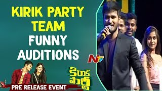 Video kirik Party Team Funny Auditions @ Kirrak Party Pre Release Event || Nikhil || Samyuktha || NTV MP3, 3GP, MP4, WEBM, AVI, FLV Maret 2018