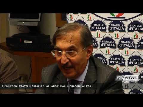 21/01/2020   FRATELLI D'ITALIA SI 'ALLARGA', MALUMORI CON LA LEGA