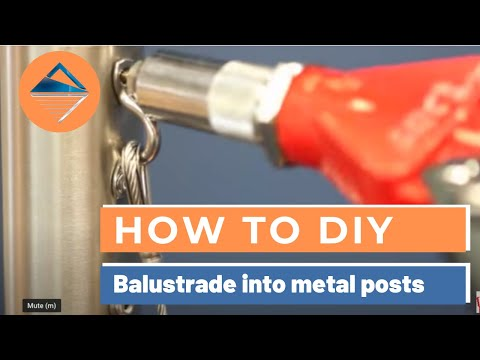 Balustrade Installation Instructions for Standard DIY Metal Post System