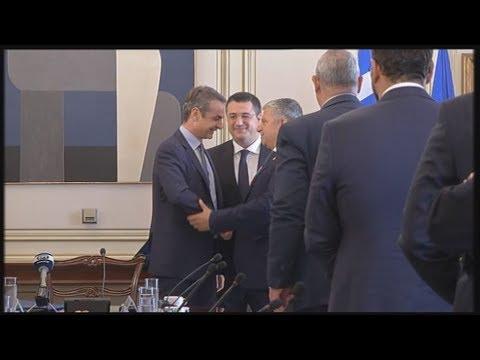 Πλάνα από τη συνάντηση του πρωθυπουργού Κυριάκου Μητσοτάκη με τους 13 περιφερειάρχες της χώρας