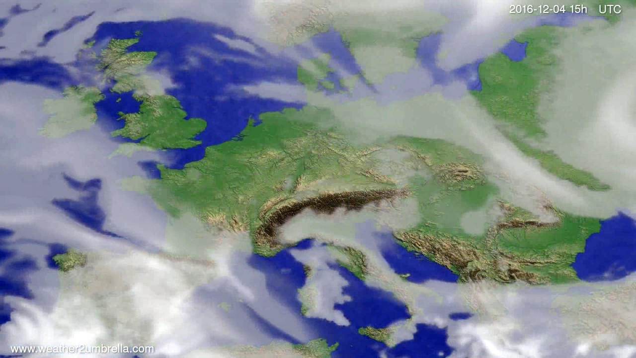 Cloud forecast Europe 2016-12-02
