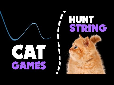 CAT GAMES | Blue STRING thing for cats