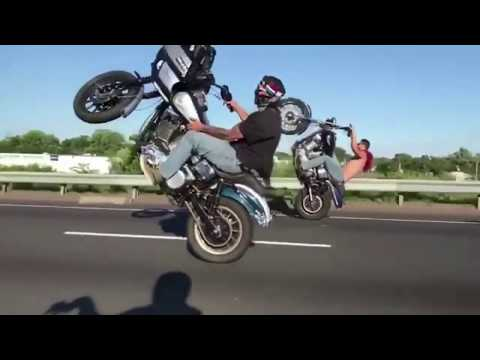 Most insane Harley Davidson drifting, crashes & wheelies.