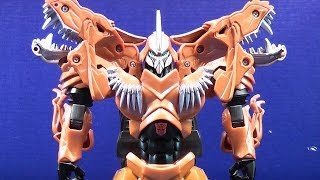 TRANSFORMERS 4 AGE OF EXTINCTION FLIP&CHANGE GRIMLOCK TOY REVIEW