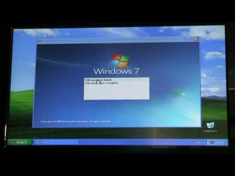 Install Windows 7 on XP