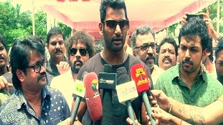 "Vishal – ""I have a confidence that it would be a fair election"" – Election Press Meet Kollywood News 03/09/2015 Tamil Cinema Online"
