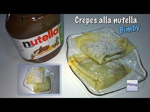 video ricetta: bimby - crepes alla nutella