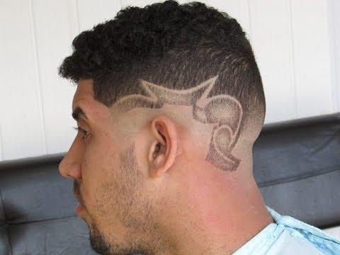 CORTE DE CABELO MASCULINO - DESENHO FREESTYLE NO CABELO /MALE HAIR CUT - HAIR FREESTYLE DRAWING