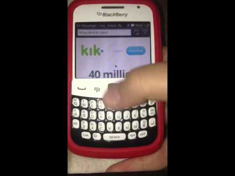 How to have Kik messenger on blackberry