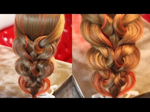 Hairstyle for long hair Коса с резинками Сердечки Hairstyles by REM HD - Natok.Info