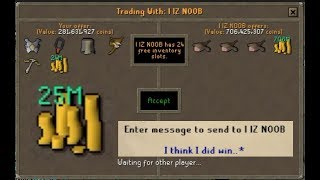 Video I took this SCAMMER for 25M! OSRS MP3, 3GP, MP4, WEBM, AVI, FLV Mei 2019