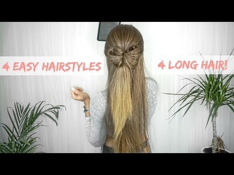 (no braiding!) 4 EASY HAIRSTYLES FOR LONG HAIR ft. Wiglogic