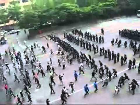 Video. Simulacro de la policía anti-motines surcoreana. Tácticas romanas.