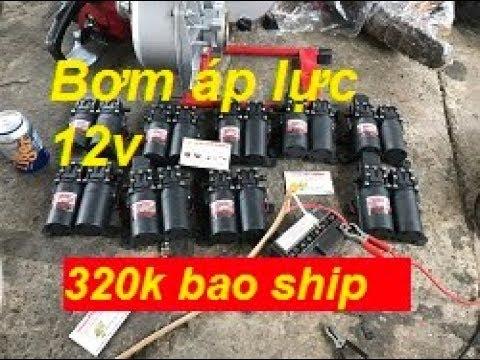 [Máy bơm áp lực 12v] Máy bơm 12V rửa xe, phun sương, rửa máy lạnh -Liên hệ 0967100003(Zalo)