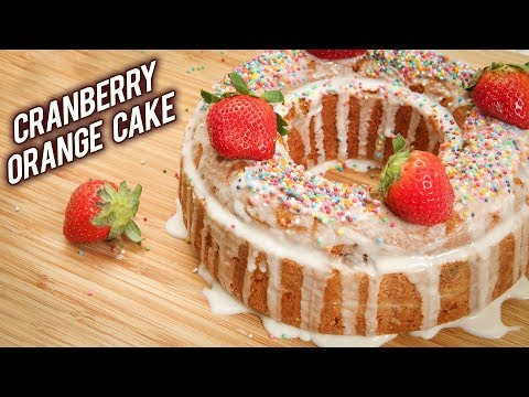 No Bake No Oven Fruit Cake | ORANGE CRANBERRY CAKE in Pressure Cooker |Christmas No Oven Cake Recipe