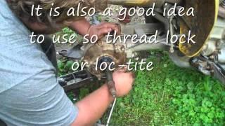 8. How to rebuild a Honda 250ex rear end