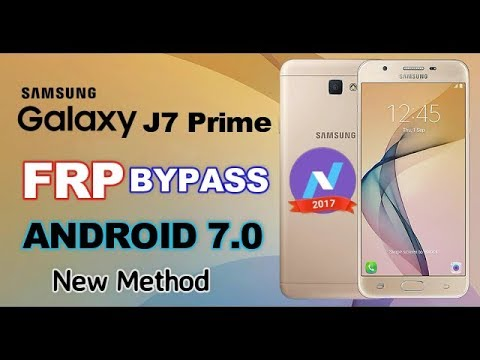 Samsung J7 Prime SM- G610F FRP Bypass Google Account Android 7.0