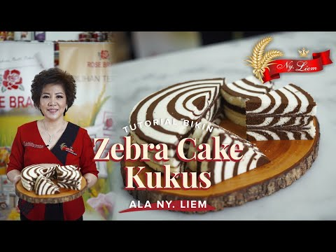 ZEBRA CAKE KUKUS ala Ny. Liem! Bikin kue lembut bareng Chef Achen