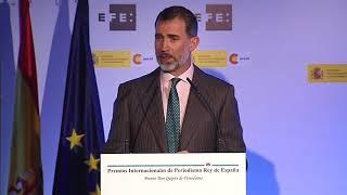 Discurso de S.M. el Rey en la entrega de los Premios de Periodismo Rey de España