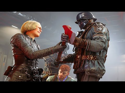 Wolfenstein 2 The New Colossus - 50 Minutes of NEW Gameplay Walkthrough No Commentary