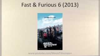 Nonton Fast & Furious 6 - Movie Title in Japanese Film Subtitle Indonesia Streaming Movie Download