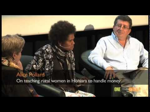 Alice Pollard on teaching rural women in Honiara to handle money