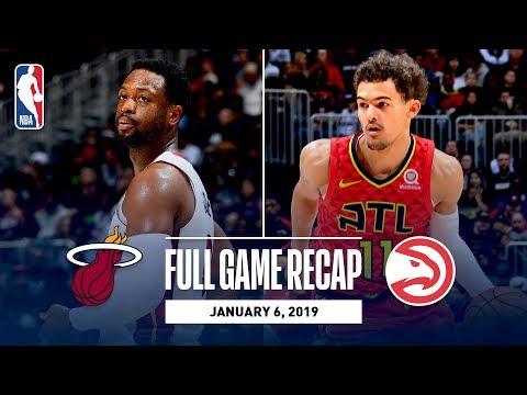 Video: Full Game Recap: Heat vs Hawks | Dwyane Wade Plays His Last Game In Atlanta