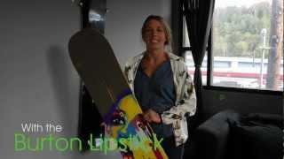 Burton Lip-Stick Snowboard Review with Kimmy Fasani
