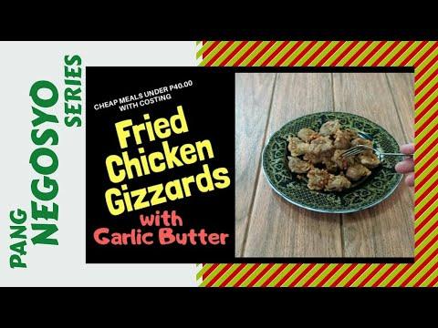 FRIED CHICKEN GIZZARDS with GARLIC BUTTER | Travel Chef