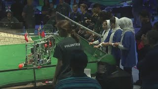 An all girl robotics team from Afghanistan has competed in a competition in Washington DC, after being given last-minute VISAs by President Donald Trump. Report by Adam Page.